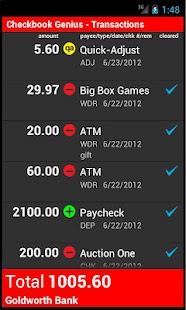 Checkbook Genius 1.5.3a - screenshot thumbnail