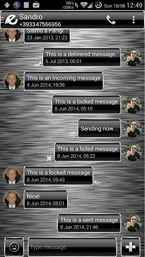 Theme Frame Silver for SMS