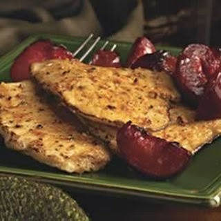 Pork Cutlet with Plums.