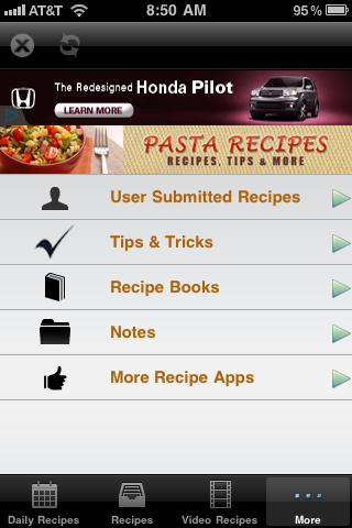 Pasta Recipes! - screenshot