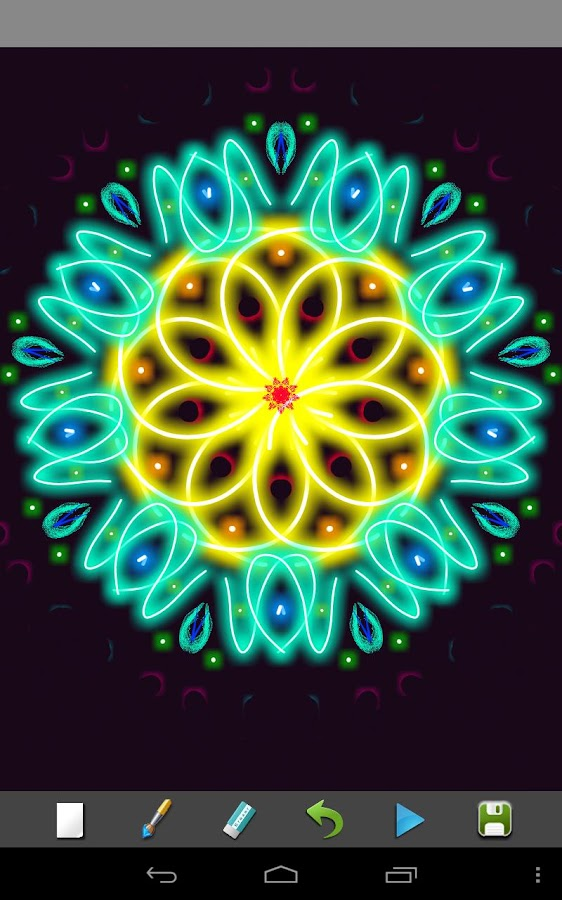 Magic Paint Kaleidoscope - screenshot