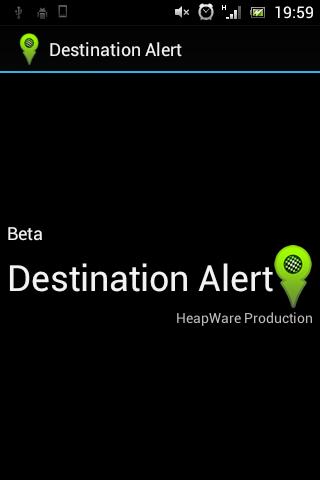 Destination Alert Beta