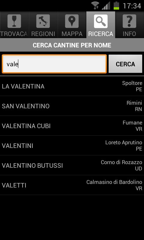ITALIANWINERIES - screenshot