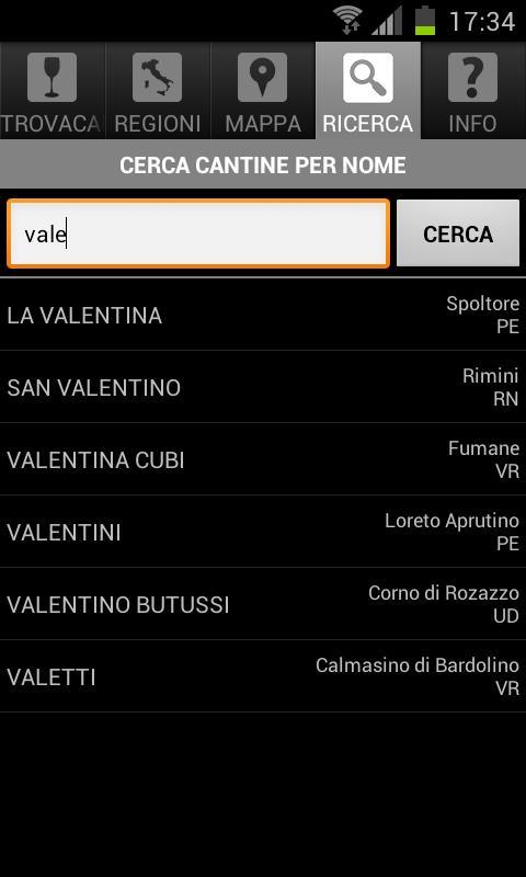 ITALIANWINERIES - screenshot