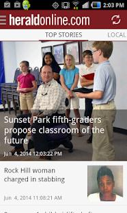 Rock Hill Herald SC newspaper - screenshot thumbnail