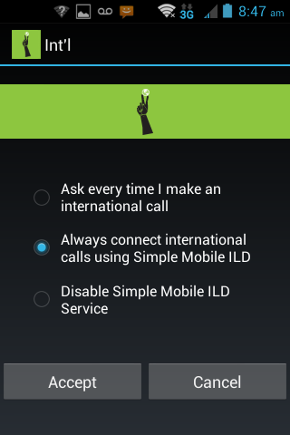 Simple Mobile International - screenshot