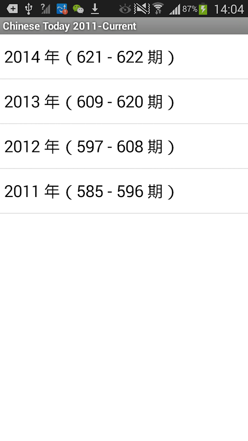 中信月刊 Chinese Today 2011-Latest- screenshot