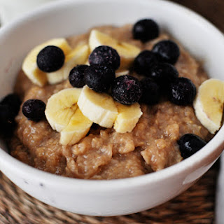 Overnight Maple & Brown Sugar Oatmeal.
