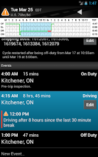 BigRoad Free Trucker Log Books - screenshot thumbnail