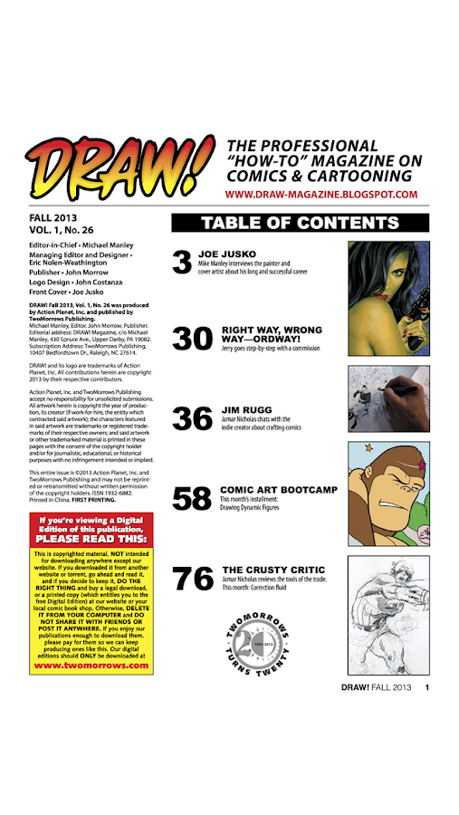 DRAW! Comic Books-skjermdump
