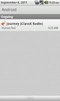 Screenshot of ClassX Radio