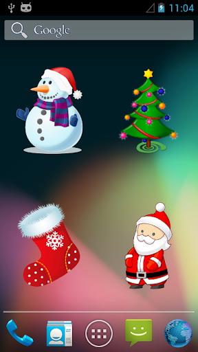クリスマスのウィジェット