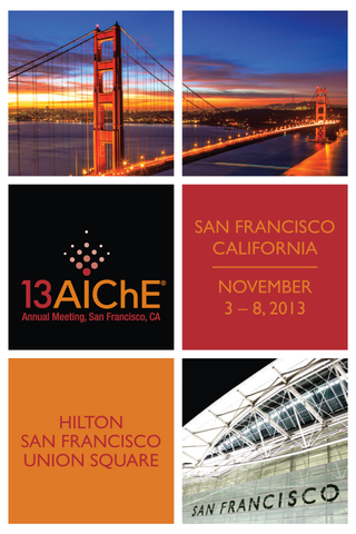 2013 AIChE Annual Meeting