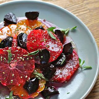 Blood Orange, Tangerine and Beet Salad with Maple-Orange Vinaigrette.