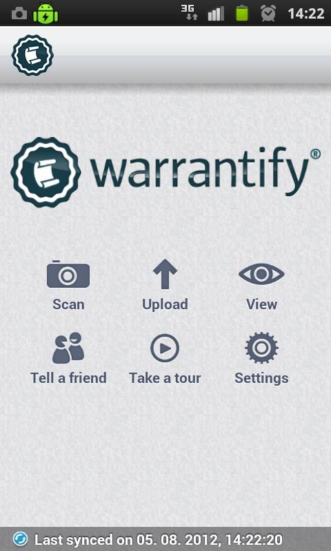 Warrantify- screenshot