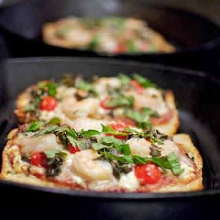 Lazy Greek Pizza with Shrimp