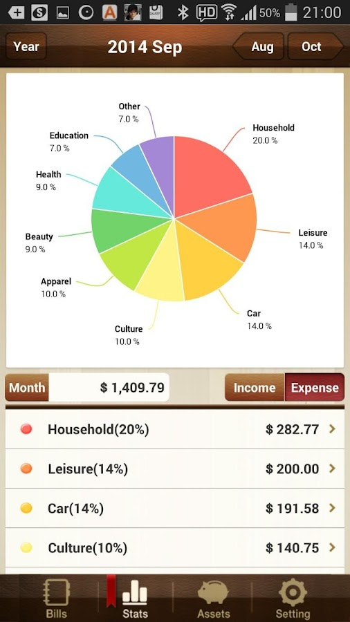 Money Manager Expense & Budget - screenshot