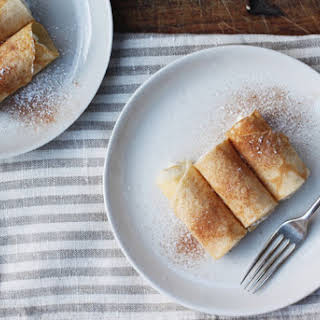 Apostle's Fingers (lemon and ricotta filled crepes).