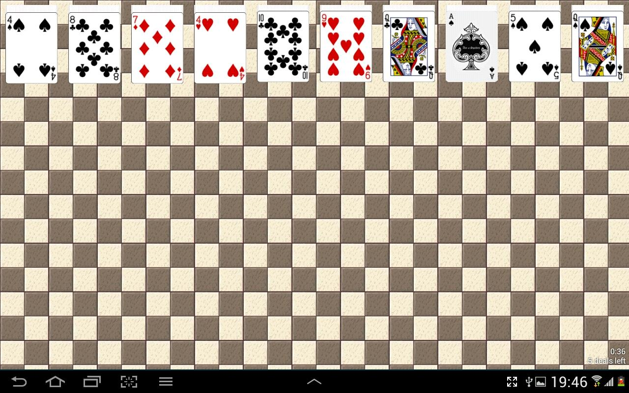Spider Solitaire Free Game - screenshot