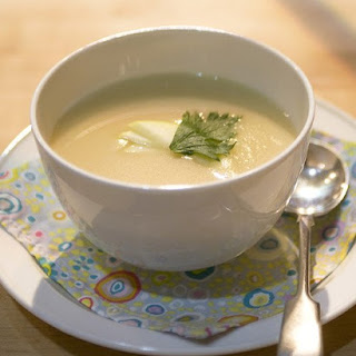 Celery Root and Ginger Gold Apple Soup