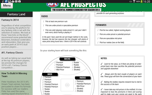 AFL Prospectus 2014 - screenshot thumbnail
