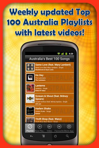Australia's Best 100 Songs - screenshot