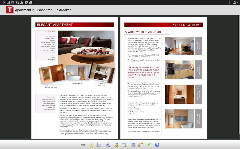 Office: TextMaker Mobile - screenshot