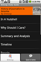 Screenshot of Journalism in America: Shmoop