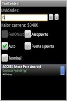 Screenshot of Valor Taximetro 2015