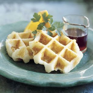 Potato-Waffle Latkes with Concord Grape Wine Syrup