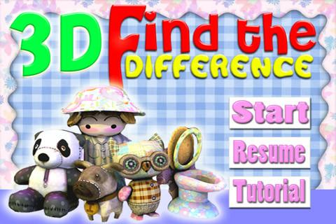 3D Find the Difference
