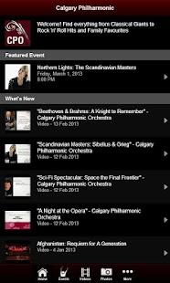 Calgary Philharmonic Orchestra - screenshot thumbnail