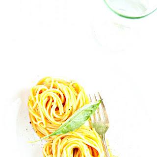 Spaghetti with Sweet Potato and Tomato Sauce