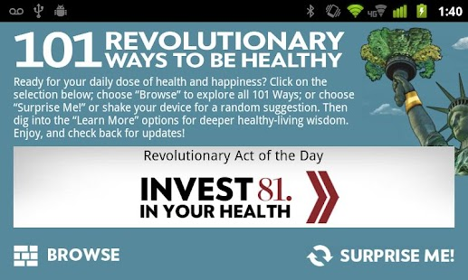 101 Ways to Be Healthy - screenshot thumbnail