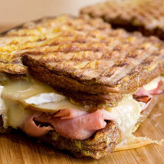 Ham, Brie, and Apple French Toast Panini.