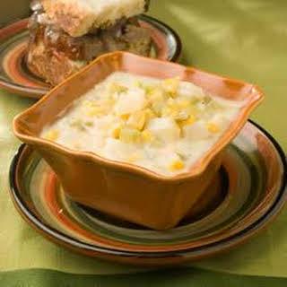 Cheesy Potato and Corn Chowder.