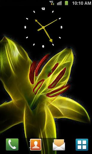 Fractal Flower Clock