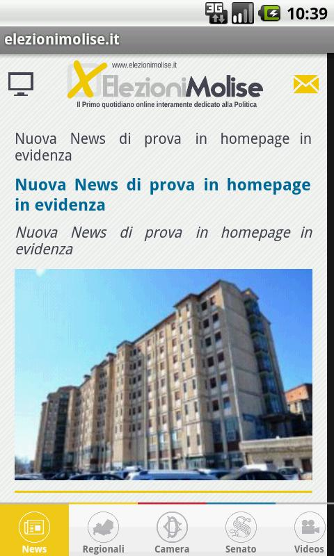 Elezioni - Molise- screenshot