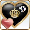 TSF Th Pink Heart Black Crown icon