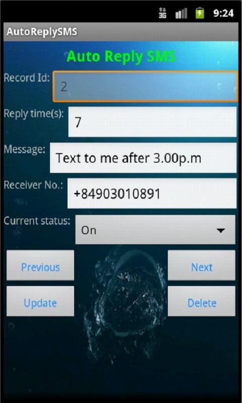 Auto Reply SMS - screenshot
