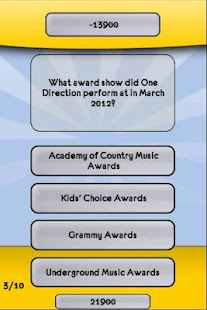 One Direction Music Trivia