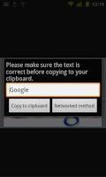 Screenshot of Copy Text
