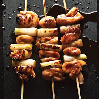 Negima Yakitori (Chicken and Scallion Skewers with Yakitori Sauce)