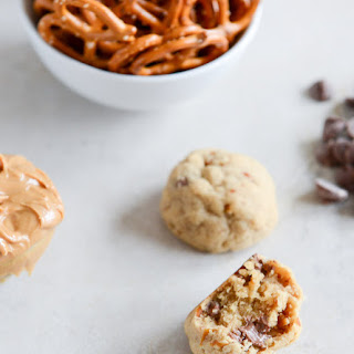 Peanut Butter Pretzel Chocolate Chip Cookie Bites