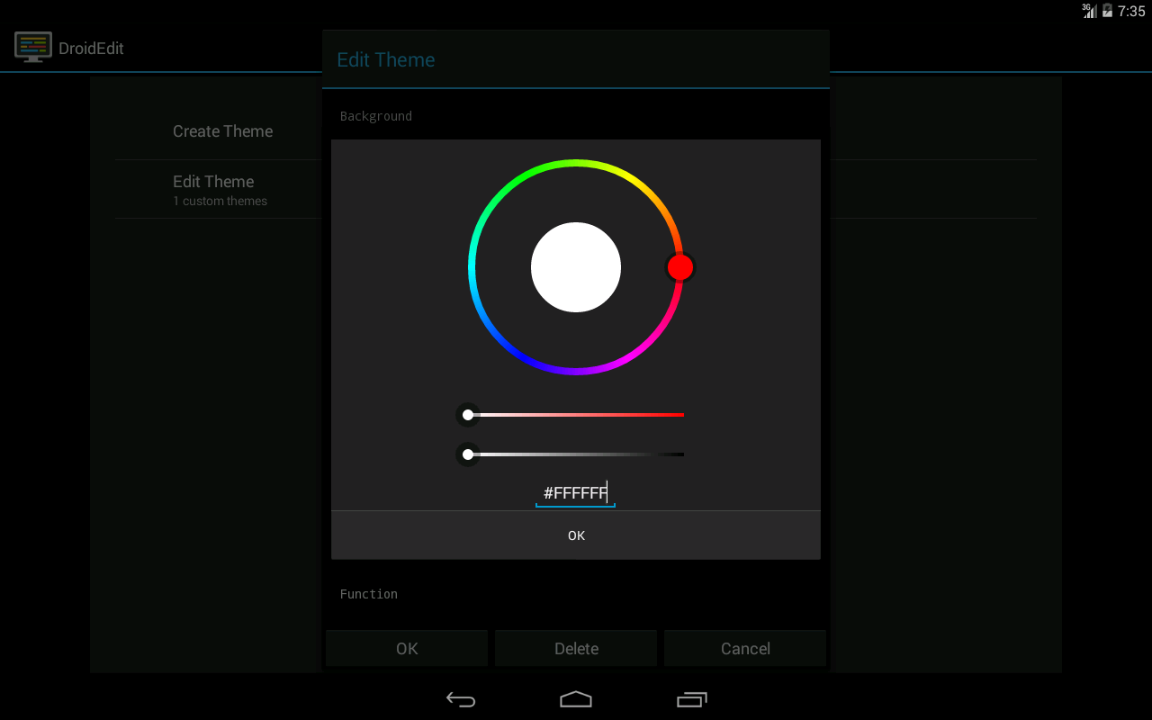 DroidEdit Pro (code editor) - screenshot