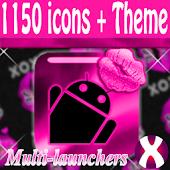 Pink Lipstick Theme + IconPack