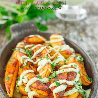 Roasted Potatoes with Garlic Aioli.