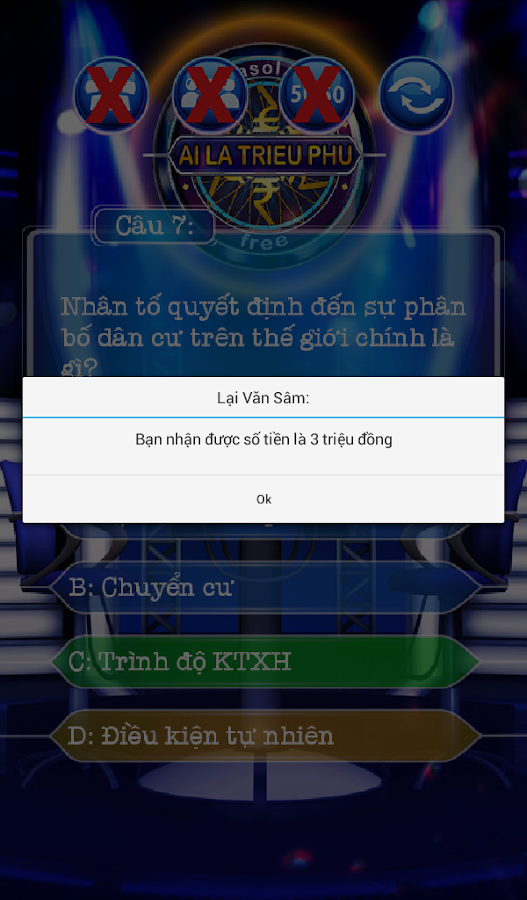 Ai la trieu phu - Arrasol - screenshot