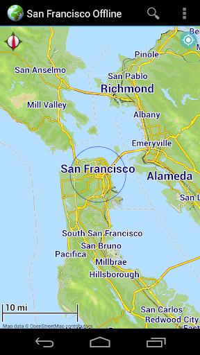 Offline Map San Francisco USA