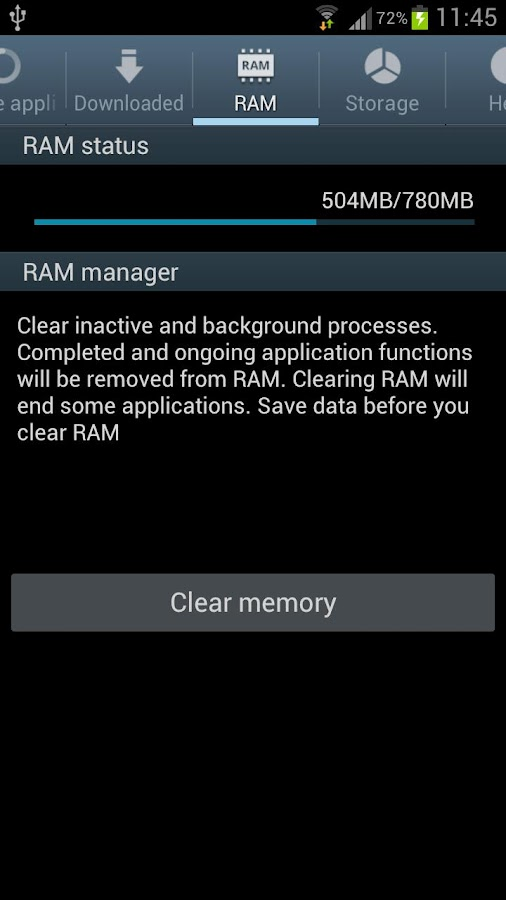Galaxy S3 S4 Task Manager - screenshot